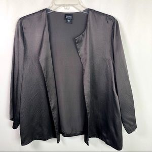Eileen Fisher | 100% Silk Open Front Light Jacket